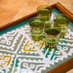 Large green tray